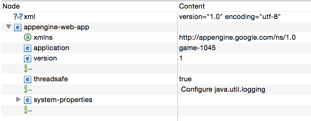 appengine-web.xml修正後